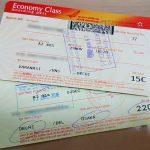 飛行機のチケット
