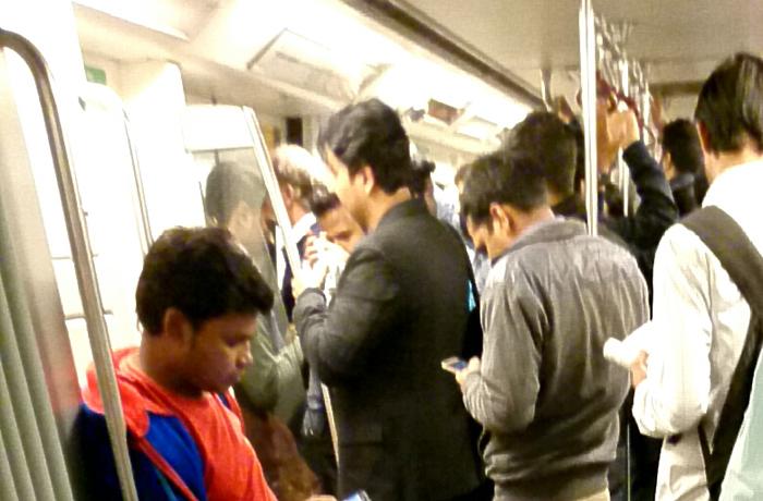 地下鉄の車内