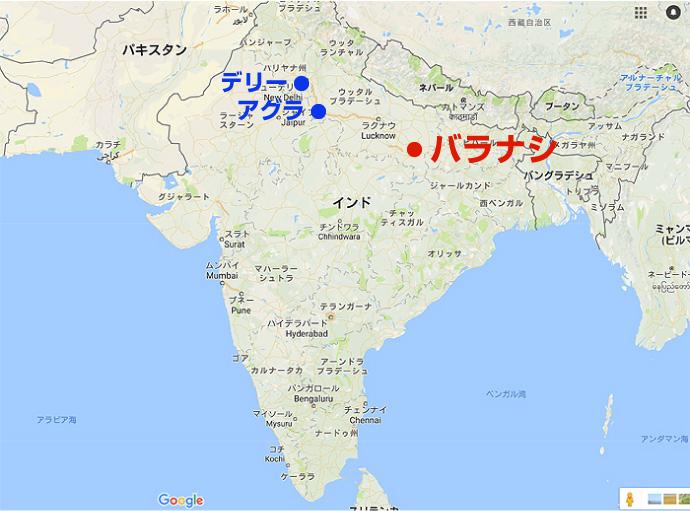 バラナシの地図