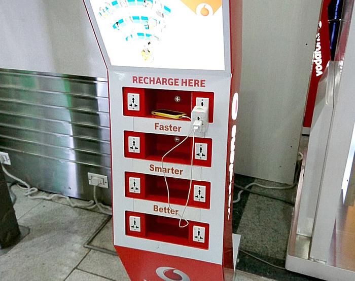 空港での充電