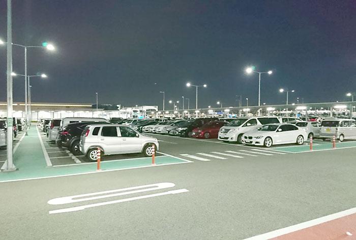 関空第二ターミナルの駐車場