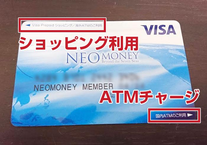 NEO MONEYの差し込む方向