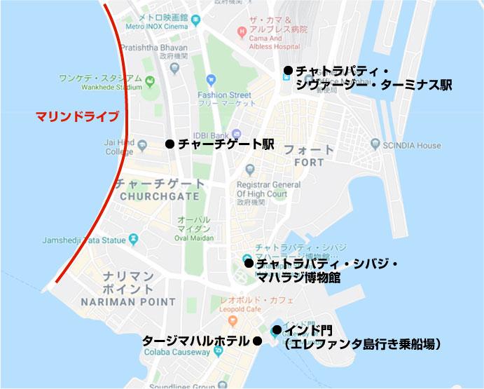 ムンバイ観光地図