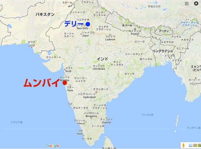 ムンバイの地図